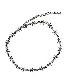 Barbed Wire Choker Necklace