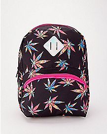Weed Leaf Mini Backpack