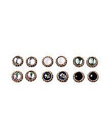 Goldplated Multi-Pack Stud Earrings - 6 Pair