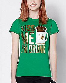 Kiss Me I'm Drunk St. Patrick's Day T Shirt