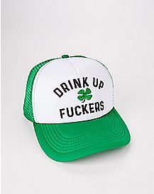 Light Up Drink Up Fuckers St. Patrick's Day Trucker Hat