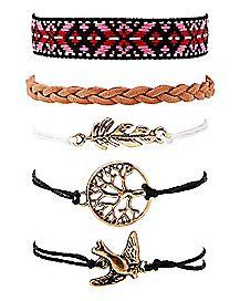 Multi-Pack Tree of Life Bracelets - 5 Pack