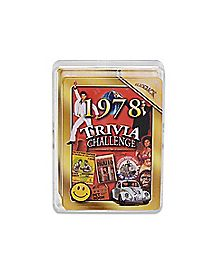 The Year Was 1978 Trivia Challenge Cards