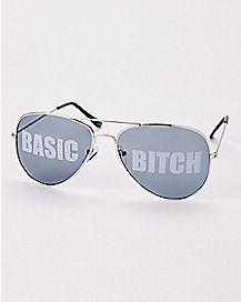 Basic Bitch Aviator Sunglasses