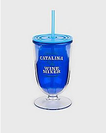 Catalina Wine Mixer Cup With Straw 16 oz. - Step Brothers