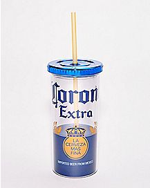 Corona Extra Cup With Straw - 20 oz.