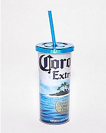 Summer Corona Extra Cup with Straw - 20 oz.