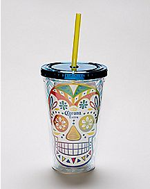 Corona Cup With Straw And Ice Cubes - 16 oz.