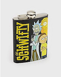 Get Schwifty Flask 8 oz. - Rick and Morty