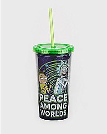Peace Among Worlds Rick Cup With Straw 20 oz. - Rick and Morty