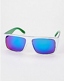 White and Green Sunglasses