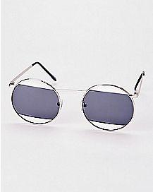 Half Lens Round Sunglasses