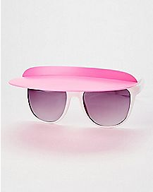 Pink Flip Up Visor Sunglasses