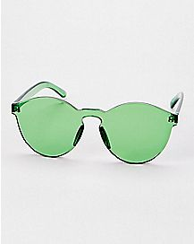 Green Flat Top Sunglasses