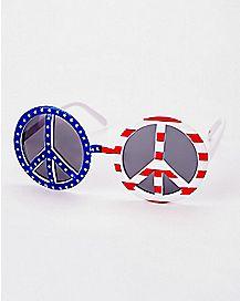 Americana Peace Round Sunglasses