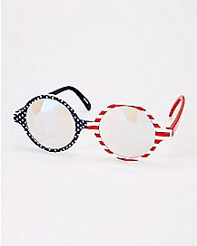 Americana Kaleidoscope Fake Glases