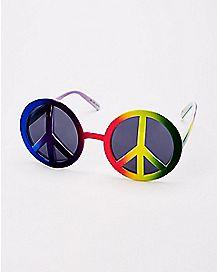 Rainbow Peace Sign Sunglasses