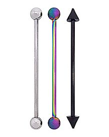 Multi-Pack Industrial Barbells 3 Pack - 14 Gauge