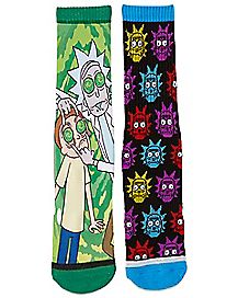 Portal Eyes Rick and Morty Crew Socks - 2 Pack