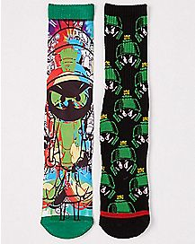 Marvin The Martian Crew Socks 2 Pack - Looney Tunes