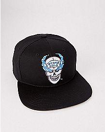 a572c4a20d1 Skull Stone Cold Steve Austin Snapback Hat - WWE