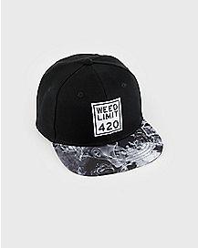 Weed Limit 420 Snapback Hat