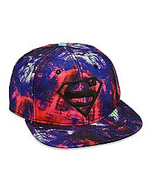 Tie Dye Superman Snapback Hat - DC Comics