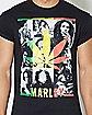 Rasta Weed  Leaf Bob Marley T Shirt