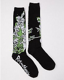 Family Picture Rick and Morty Knee High Socks