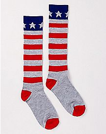 Glitter Americana Knee High Socks