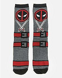 f34a65388eb Sword Deadpool Crew Socks - Marvel