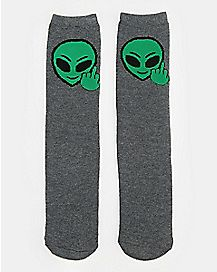 If You Can Read This Go Fuck Yourself Alien Crew Socks