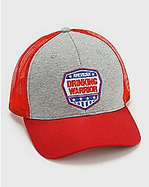American Drinking Warrior Trucker Hat