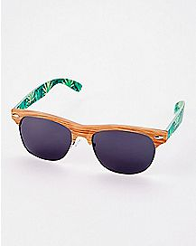 Wood Leaf Sunglasses