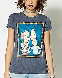 The Poopybuttholes Family T Shirt - Rick and Morty