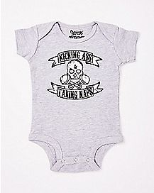 Kicking Ass Taking Naps Baby Bodysuit