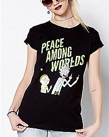 Peace Among Worlds T Shirt - Rick and Morty