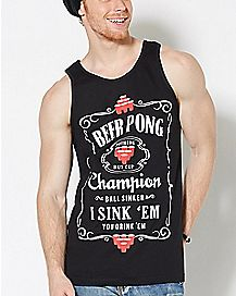 Beer Pong Champion Tank Top