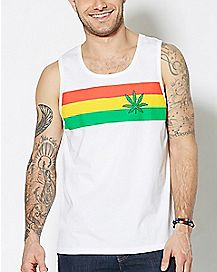 Pot Leaf Rasta Tank Top