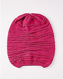 Hot Pink Slouchy Beanie Hat