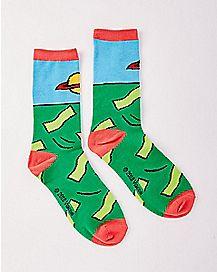 Chuckie Finster Crew Socks - Rugrats