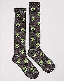 Alien Knee High Socks