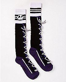 Lace Up Jack Skellington Knee High Socks - The Nightmare Before Christmas