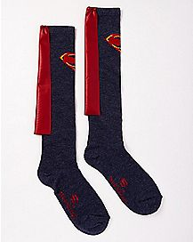 Caped Superman Knee Socks - DC Comics