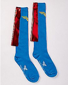 Caped Wonder Woman Knee High Socks - DC Comics