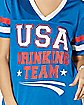 Red White and Blue USA Drinking Team Jersey