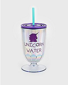 Unicorn Water Cup With Straw - 12 oz.