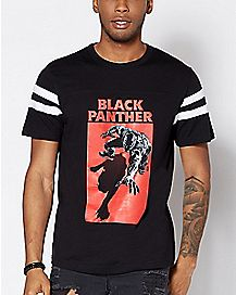 Varsity Black Panther T Shirt - Marvel