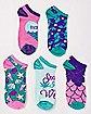 Pot Leaf Mermaid Ankle Socks - 5 Pair