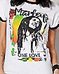 Rasta One Love Bob Marley T Shirt